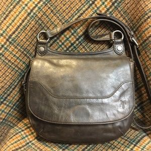 Frye Melissa Dark Brown Saddle Bag